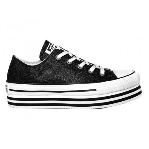 Chuck Taylor All Star Shiny Metal Lift Low Top di Converse