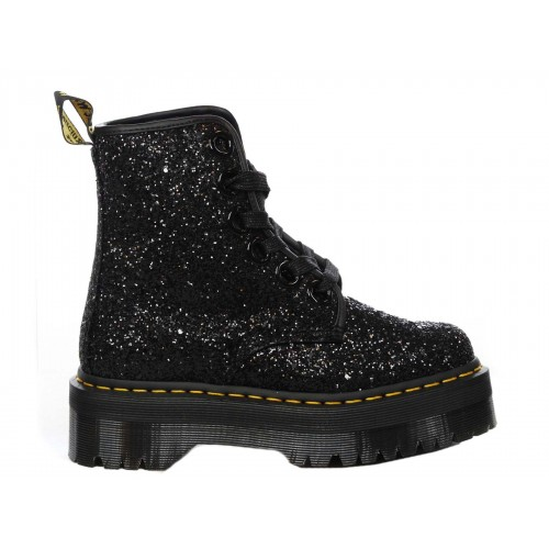 DR. MARTENS Stivaletto Molly Glitter Chunky Donna