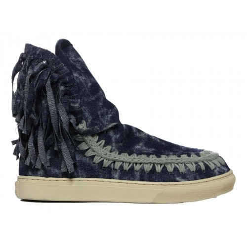 MOU Summer Eskimo Sneaker Fringed Denim Donna